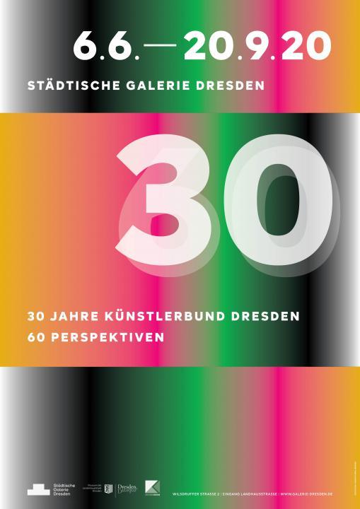 Poster 30 Jahre Künstlerbund Dresden