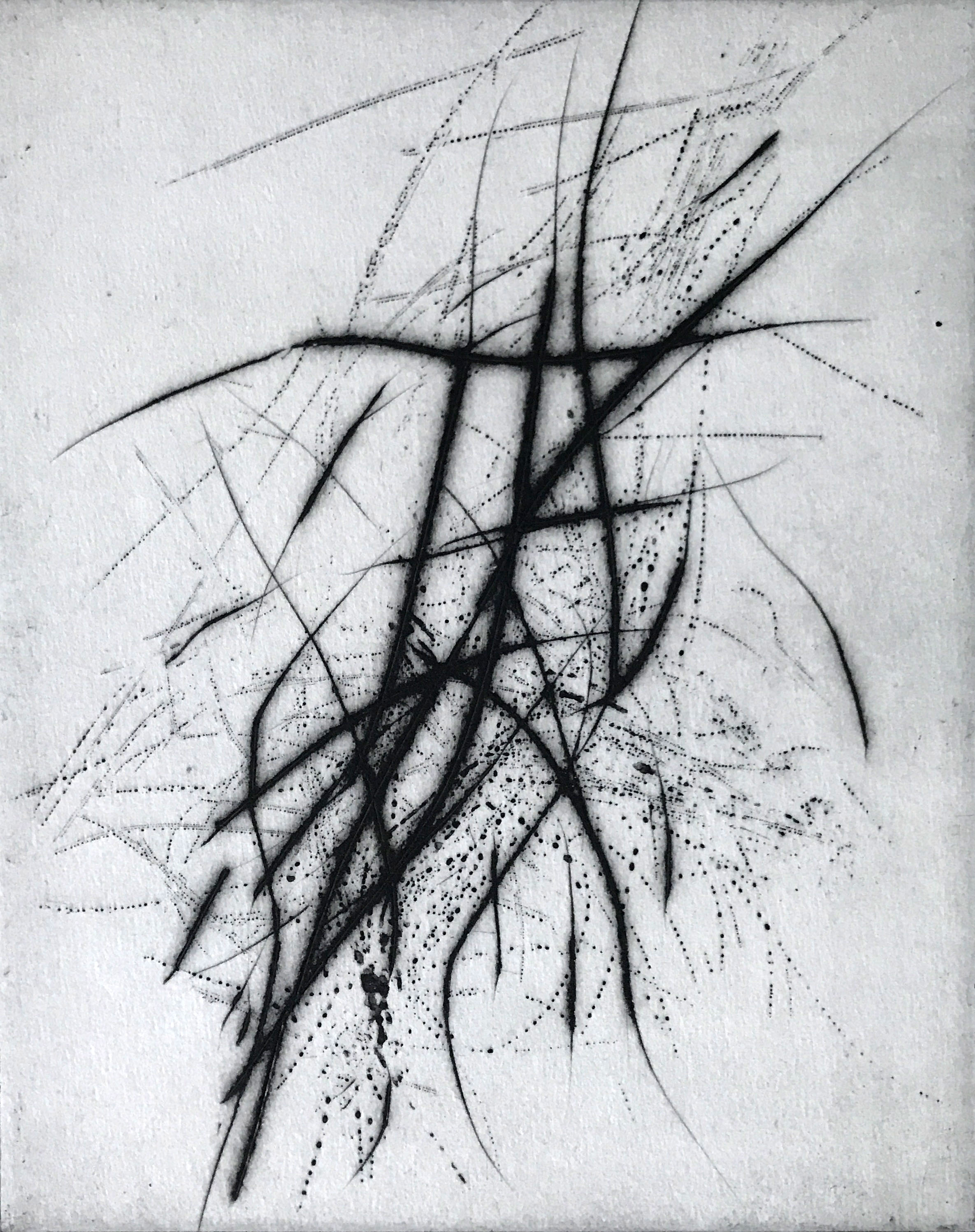 accord, to Alfred Schnittke 2020 reservage/drypoint 25 x 20 xm plate