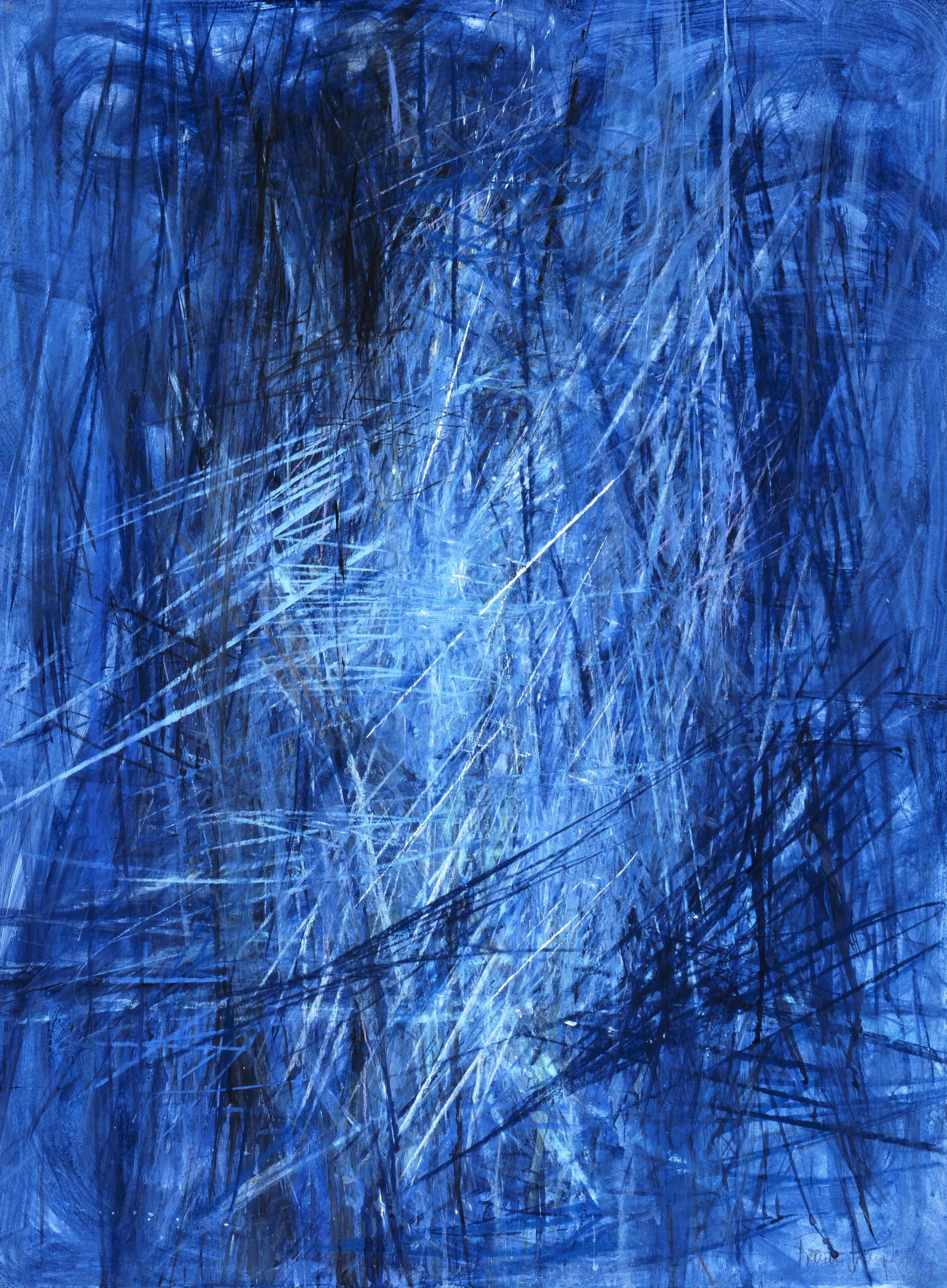 Wasserscheide 1999 Tusche, Acryl, Pastell 74x56 cm